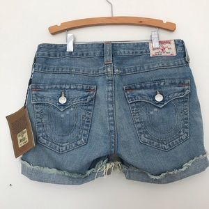 True Religion denim shorts